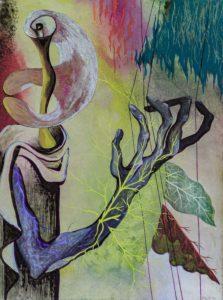 Green harpist, 1945