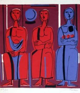 Tres figuras, 1970
