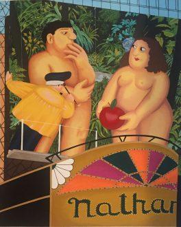 Beryl Cook, Inglaterra 1926-2008. Nathans, serigrafá, 84 x 66 cm., 1987